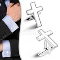Запонки Крест
