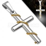 Кулон Крест с цепочкой