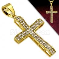 Кулон Крест с камнями