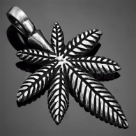 Кулон Конопляный лист