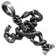 Кулон Скелет со Змеями